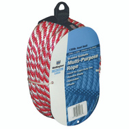 Lehigh Group 44166/88002 Red / White 3/8 Inch By 50 Foot Rope