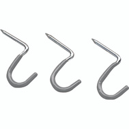 Crawford HS16 1 Inch Curved Vinyl Coated Hammer In Wall Hooks 3 Pack