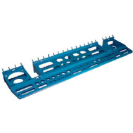Crawford 3N1TH Ultimate Pegboard Tool Holder Tray 24-1/2 Inch Wide By 2 High By 6 Deep