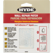 Hyde 09898 Patch Drywall Alum 4X4 Inch
