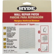 Hyde 09899 Patch Drywall Alum 6X6 Inch
