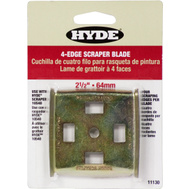 Hyde 11130 Paint Scraper 4 Edge Replacement Blade 2 1/2 Inch