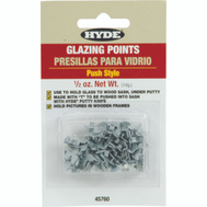 Hyde 45760 Glazier Points Push In T Style