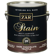UGL 12313 Zar Dark Chocolate Truffle Interior Wood Stain Oil Based Gallon
