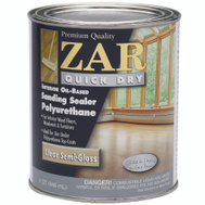 UGL 20412 Zar Semi Gloss Quick Dry Polyurethane Sanding Sealer Oil Based Quart