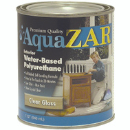 UGL 32412 Zar Clear Gloss Interior Water Based Polyurethane Quart