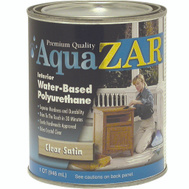 UGL 32512 Zar Clear Satin Interior Water Based Polyurethane Quart