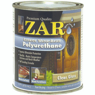 UGL 32611 Zar Clear Amber Exterior Water Based Polyurethane Pint