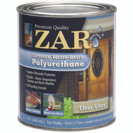 UGL 32612 Zar Clear Amber Gloss Exterior Water Based Polyurethane Quart