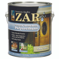 UGL 32613 Zar Clear Amber Gloss Exterior Water Based Polyurethane Gallon