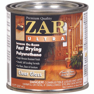 UGL 32806 Zar Clear Gloss Ultra Interior Oil Based Polyurethane 1/2 Pint