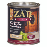 UGL 34112 Zar Clear Satin Ultra Exterior Oil Based Polyurethane Quart