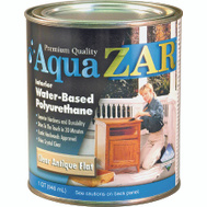 UGL 34412 Zar Clear Antique Flat Interior Water Based Polyurethane Quart