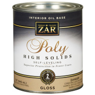 UGL 34612 ZAR Clear Gloss Classic Interior Oil Based Polyurethane Quart