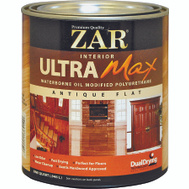 UGL 36412 ZAR Flat Ultra Max Waterborne Oil Modified Interior Pyurethane Quart
