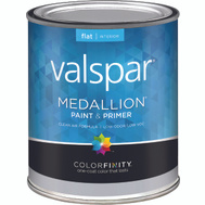 Valspar 1400 Medallion Paint Interior Flat Latex White Quart