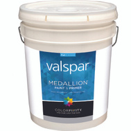 Valspar 1400 Medallion White Interior Flat Latex Lifetime 5 Gallon