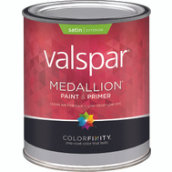 Valspar 4100 Medallion Quart White Exterior Satin Latex