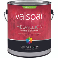 Valspar 4100 Medallion Paint Exterior Satin Latex White Gallon