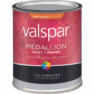 Valspar 4300 Medallion Quart White Semi Gloss Latex