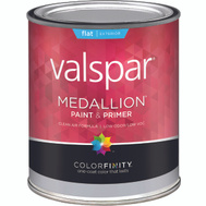 Valspar 45501 Medallion Paint Exterior Flat Latex White Quart