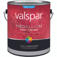 Valspar 45501 Medallion Paint Exterior Flat Latex White Gallon
