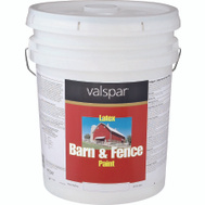 Valspar 3125-70 Barn & Fence 5 Gallon White Barn/Fence Latex