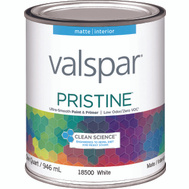 Valspar 18500 Paint Interior Matte White Quart