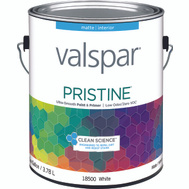 Valspar 18500 Paint Interior Matte White Gallon