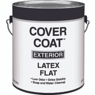 Valspar 555 Cover Coat Contractor Exterior Flat White Gallon
