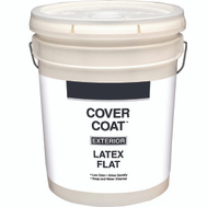 Valspar 555 Cover Coat Contractor Exterior Flat White 5 Gallon
