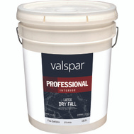 Valspar 275 Guardian Professional Interior Dry Drop Flat White 5 Gallon