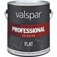 Valspar 11600 Professional Paint Interior Flat Latex High Hide White Gallon