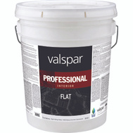Valspar 11600 Professional Paint Interior Flat Latex High Hide White 5 Gallon