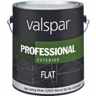 Valspar 12600 Professional Paint Exterior Flat Latex White Gallon
