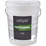 Valspar 12600 Professional Paint Exterior Flat Latex White 5 Gallon