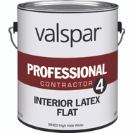 Valspar 99400 Professional - Contractor Paint Interior Latex Flat White Gallon
