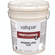 Valspar 99400 Professional - Contractor Paint Interior Latex Flat White 5 Gallon