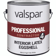 Valspar 99410 Professional - Contractor Paint Interior Latex Eggshell Finish White Gallon
