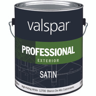 Valspar 12700 Professional Paint Exterior Latex Satin White Gallon