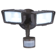 Cooper Lighting MST203T18B All Pro 180 Degree Motion Activated Twin Head LED Floodlight Bronze
