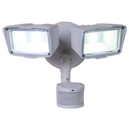 Cooper Lighting MST203T18W All Pro 180 Degree Motion Activated Twin Head LED Floodlight White