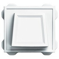 Builders Edge 140016774001 Hooded Vent 4In White
