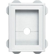 Builders Edge 130030003001 Mounting Block Wrap Around Wht