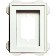 Builders Edge 130130002123 White Recessed Mini Block