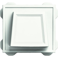 Builders Edge 140116774123 White Hooded Dryer Vent