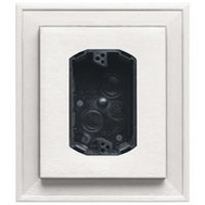 Builders Edge 130010010001 Mounting Block Electrical Wht