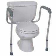 Medline MDS86100RF Rail Toilet Safety Foldable