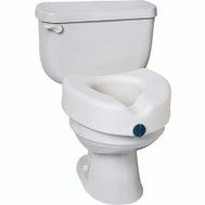 Medline MDS80314 Toilet Seat Elevated No Arms