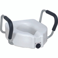 Medline MDS80316 Elevated Toilet Seat With Arms
